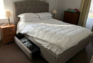 King Size Rouen Storage Bed & Mattress