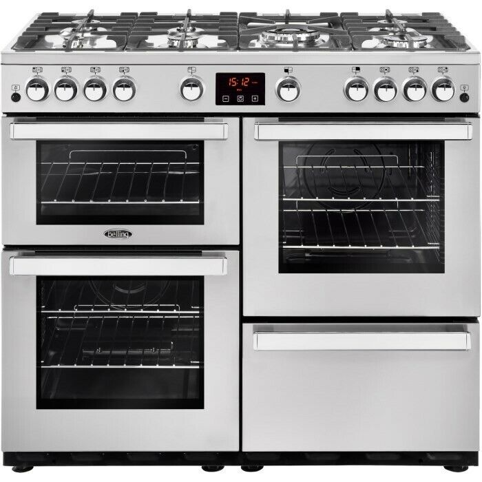 Belling 444444087 -100cm Gas Range Cooker for Large Families- BOXED- UNOPENED -7 Burners- 3 ovens !!